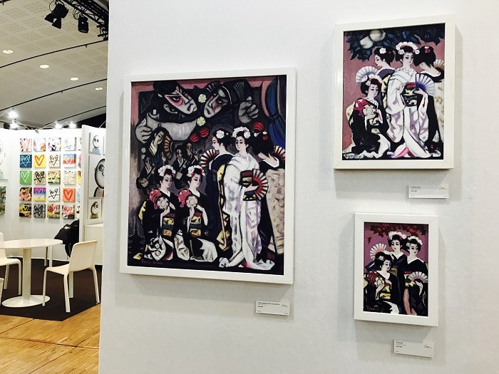 Salon Art Shopping Paris 2016で展示された宇野藤雄氏の作品(筆者撮影)